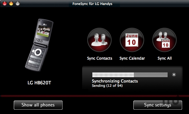 Screenshot 1 for FoneSync for LG phones