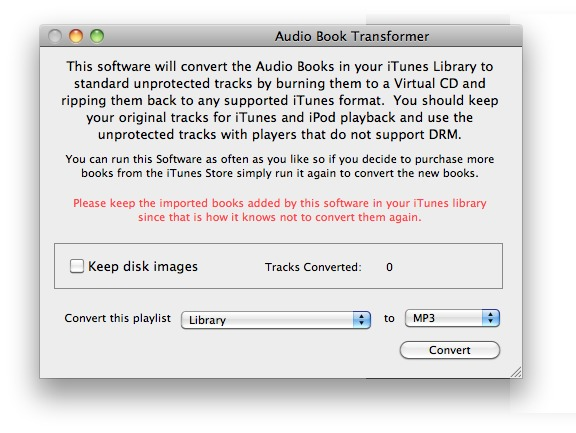 Screenshot 1 for Audio Book Transformer