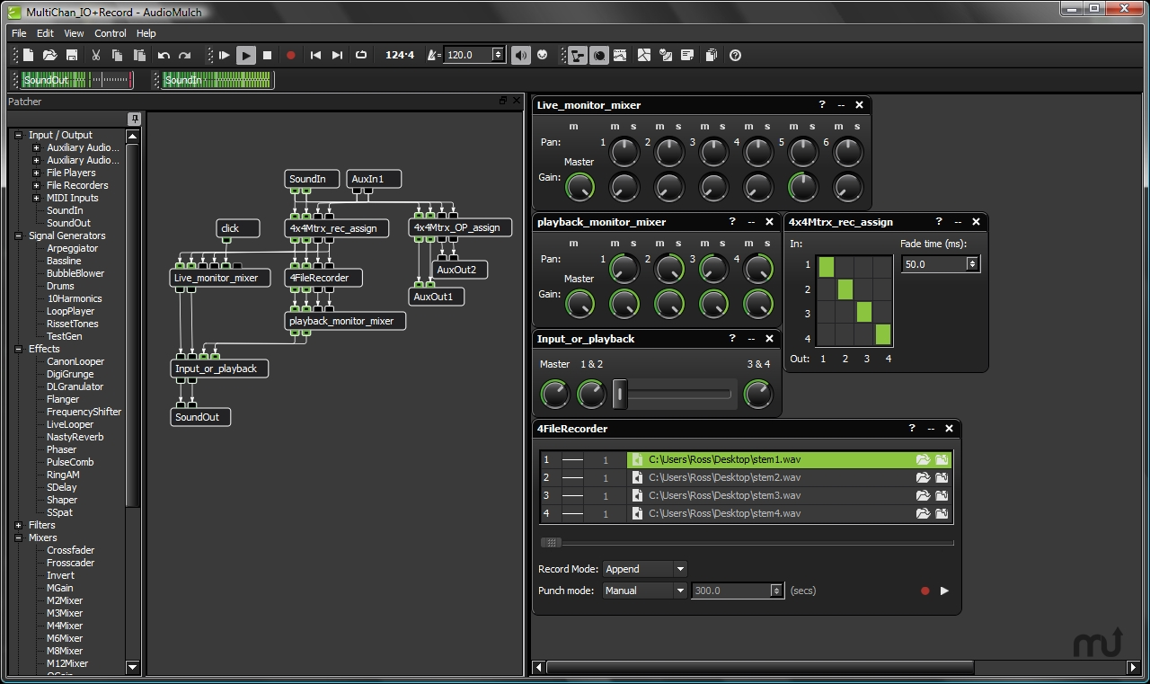 Screenshot 1 for AudioMulch