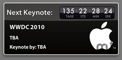 Screenshot 1 for Apple Keynote Countdown Widget