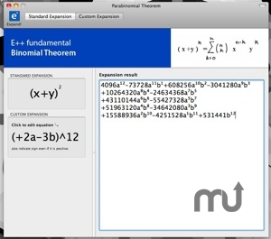 Screenshot 1 for Parabinomial Theorem