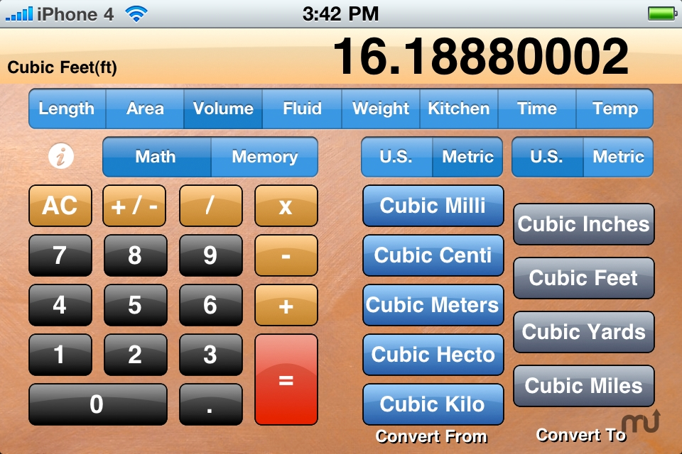 Screenshot 1 for Standard Measurement Calculator