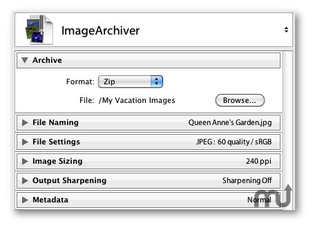 Screenshot 1 for ImageArchiver for Lightroom