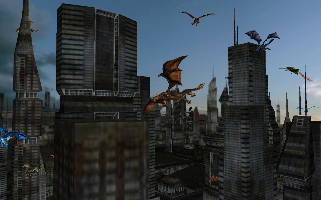 Screenshot 1 for Dragon City 3D Screen Saver