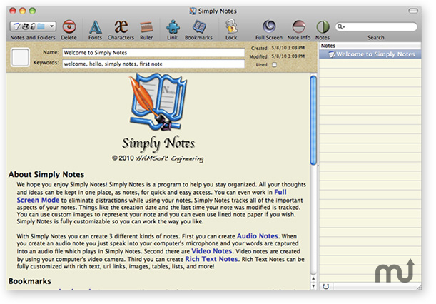 Screenshot 1 for Simply Notes