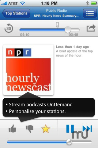 Screenshot 1 for Stitcher Radio
