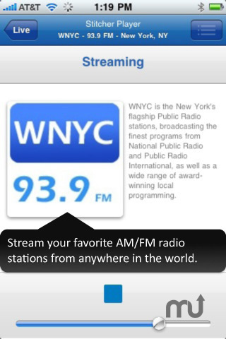 Screenshot 2 for Stitcher Radio