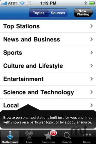 Screenshot 3 for Stitcher Radio