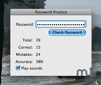 Screenshot 1 for Password Practice