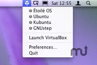 Screenshot 1 for VirtualBox Menulet