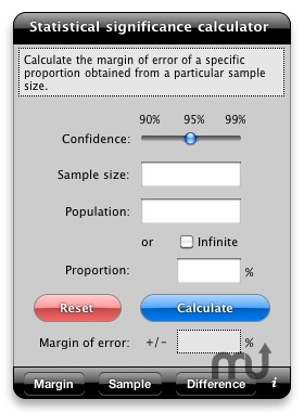 Screenshot 1 for Statistical Significance Calculator