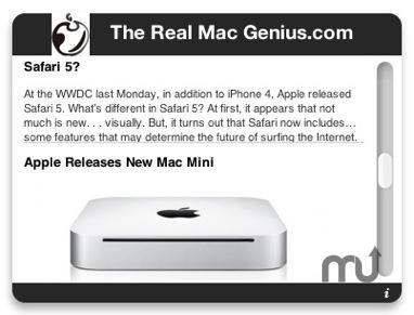 Real Mac Genius RSS Feed 1 0 free download for Mac | MacUpdate