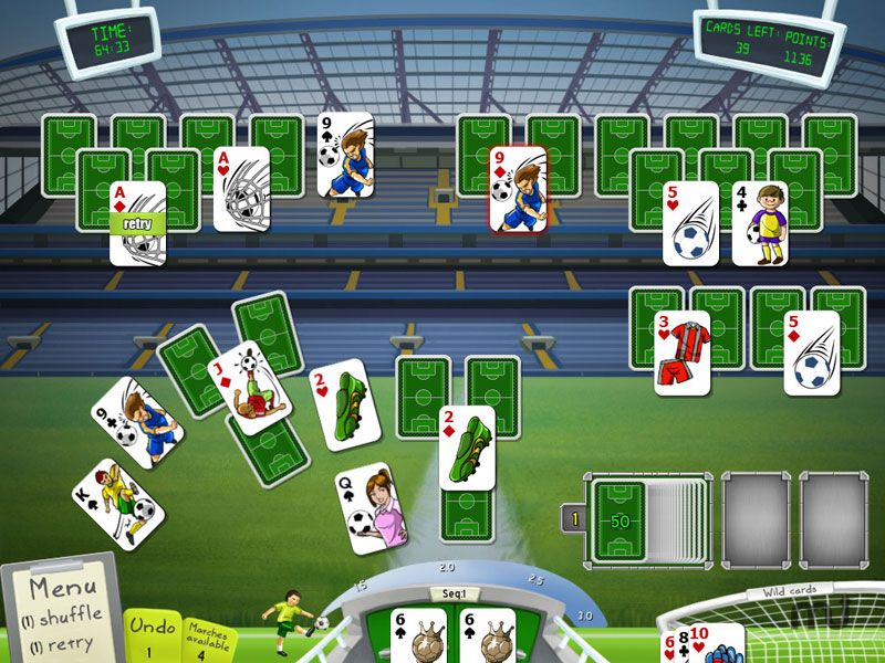 Screenshot 1 for Soccer Cup Solitaire