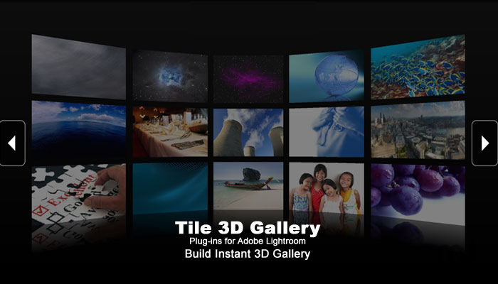 Screenshot 1 for Tile 3D Gallery Plugins