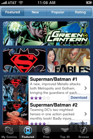 Screenshot 1 for DC Comics