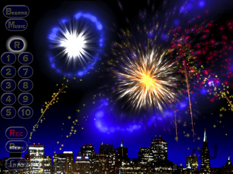 Screenshot 1 for Musical Fireworks HD