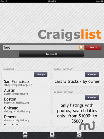 Screenshot 1 for Craigslist Pro for iPad