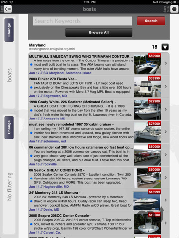 Screenshot 2 for Craigslist Pro for iPad