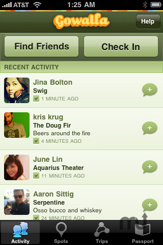 Screenshot 1 for Gowalla