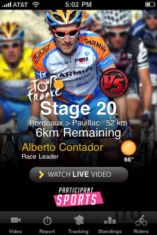 Screenshot 1 for Official Versus Tour de France LIVE