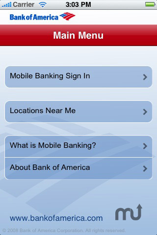 Screenshot 1 for Bank of America - Mobile Banking