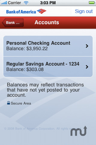 Screenshot 2 for Bank of America - Mobile Banking