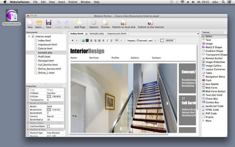 Screenshot 1 for WebsitePainter