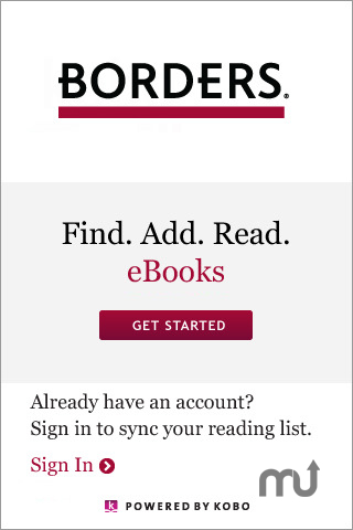 Screenshot 1 for Borders eBooks