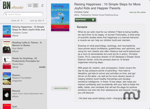 Screenshot 2 for Barnes & Noble eReader