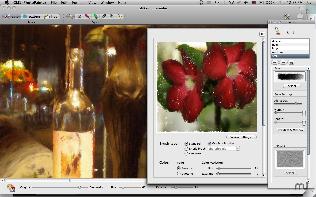 Screenshot 1 for GMX-PhotoPainter