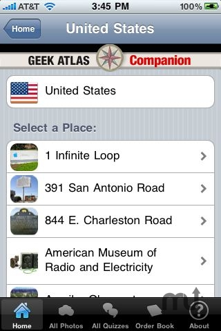 Screenshot 1 for The Geek Atlas Companion