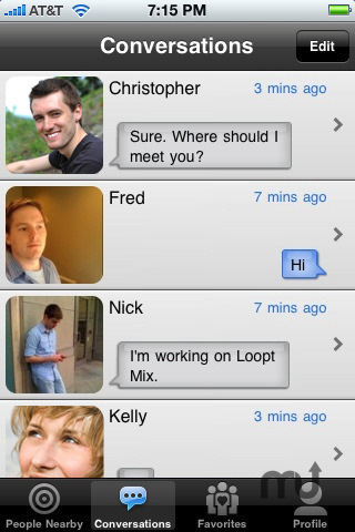 Screenshot 5 for Loopt Mix - Chat!