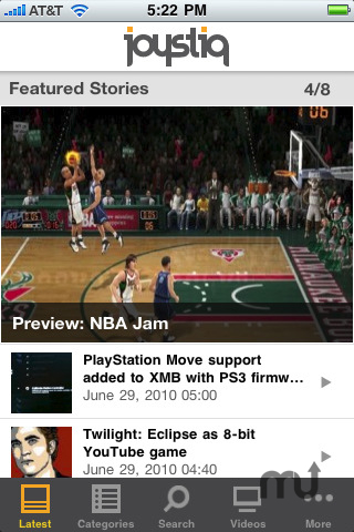 Screenshot 1 for Joystiq