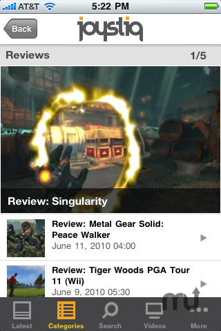 Screenshot 3 for Joystiq