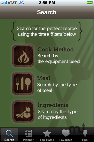 Screenshot 1 for Classic Camping Cookbook & Meal Planner
