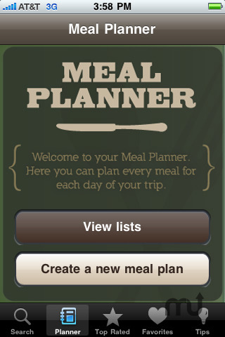 Screenshot 2 for Classic Camping Cookbook & Meal Planner