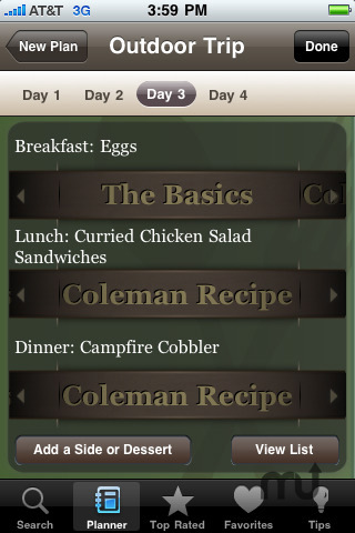 Screenshot 3 for Classic Camping Cookbook & Meal Planner