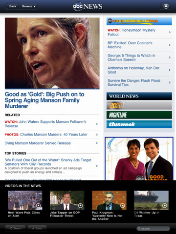 Screenshot 3 for ABC News for iPad