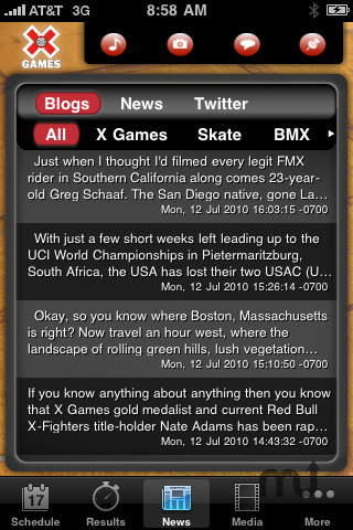 Screenshot 2 for X Games 16 Mobile App