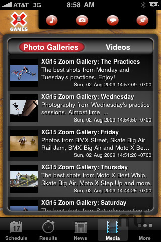 Screenshot 3 for X Games 16 Mobile App