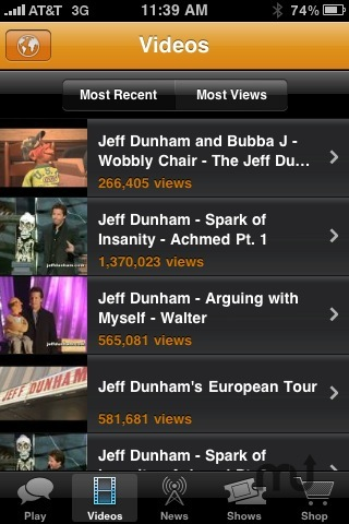 Screenshot 4 for The Jeff Dunham iPhone Application
