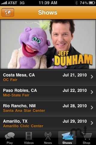 Screenshot 5 for The Jeff Dunham iPhone Application