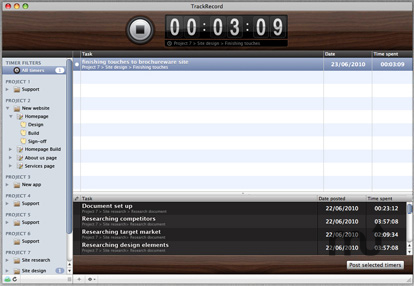 Screenshot 1 for TrackRecord