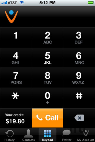 Screenshot 1 for Vonage Mobile for iPhone