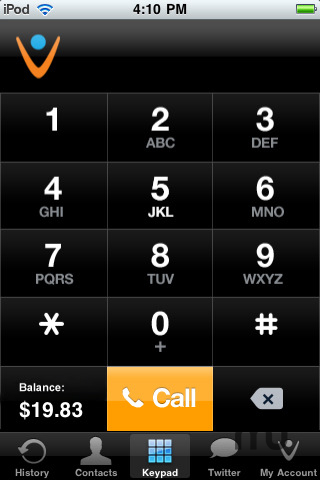 Screenshot 1 for Vonage Mobile for iPod touch