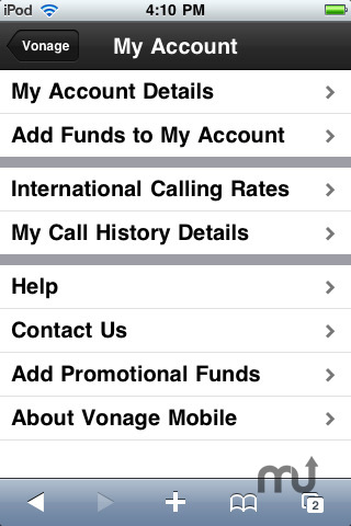 Screenshot 4 for Vonage Mobile for iPod touch