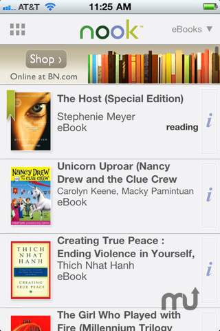 Screenshot 2 for Barnes & Noble NOOK for iPhone