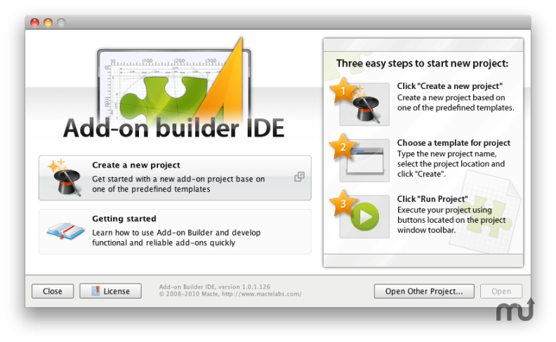 Screenshot 1 for Addon Builder IDE