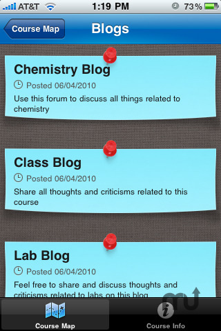 Screenshot 2 for Blackboard Mobile Learn for iPhone