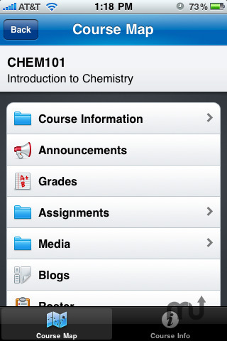 Screenshot 3 for Blackboard Mobile Learn for iPhone